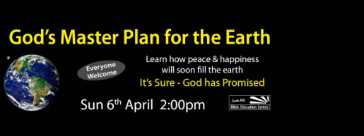 God's Master Plan for the Earth